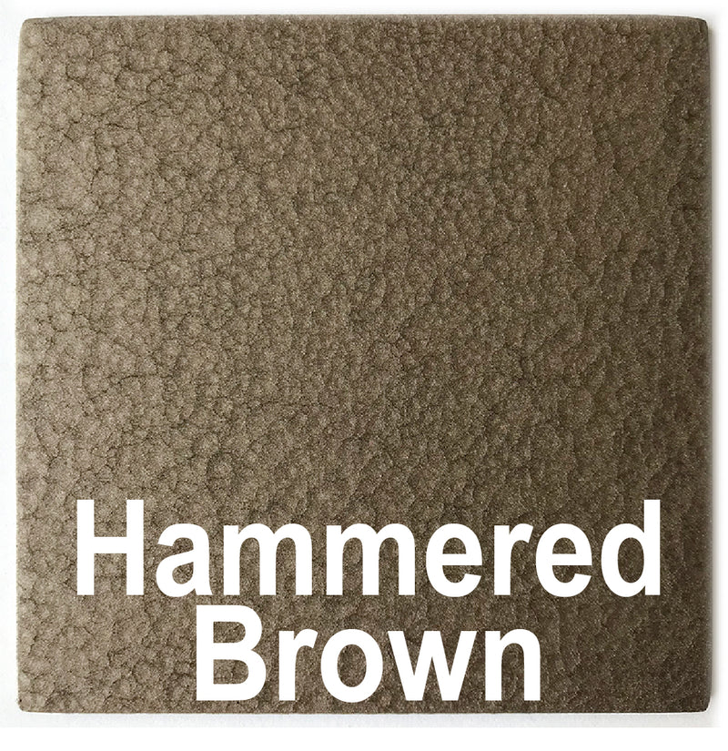 Hammered Brown sample piece - 3