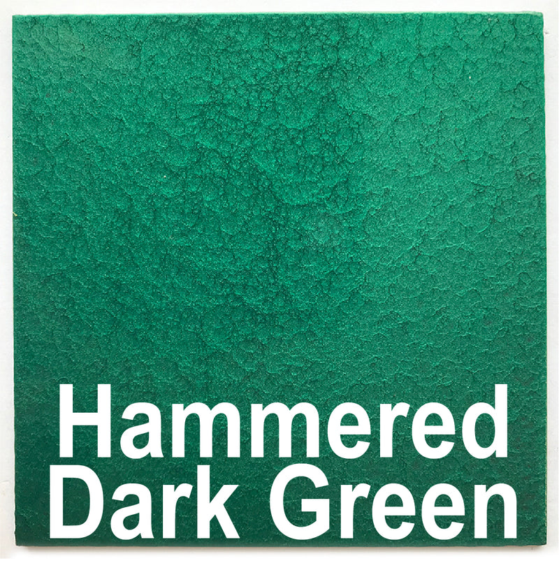 "Hammered Dark Green sample piece - 3"" x 3"" Metal Art Color Swatch - Handmade in the USA - FREE SHIPPING"