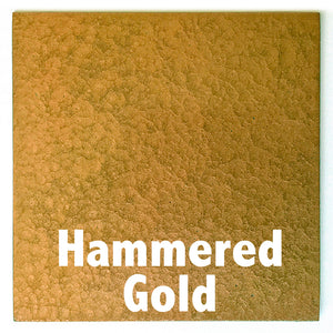 "Hammered Gold sample piece - 3"" x 3"" Metal Art Color Swatch - Handmade in the USA - FREE SHIPPING"