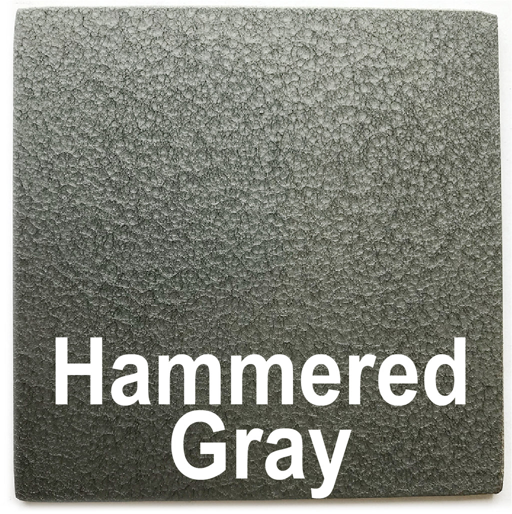 "Hammered Gray sample piece - 3"" x 3"" Metal Art Color Swatch - Handmade in the USA - FREE SHIPPING"