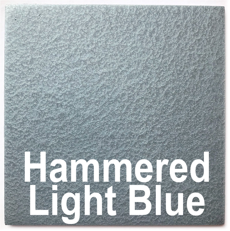 "Hammered Light Blue piece - 3"" x 3"" Metal Art Color Swatch - Handmade in the USA - FREE SHIPPING"