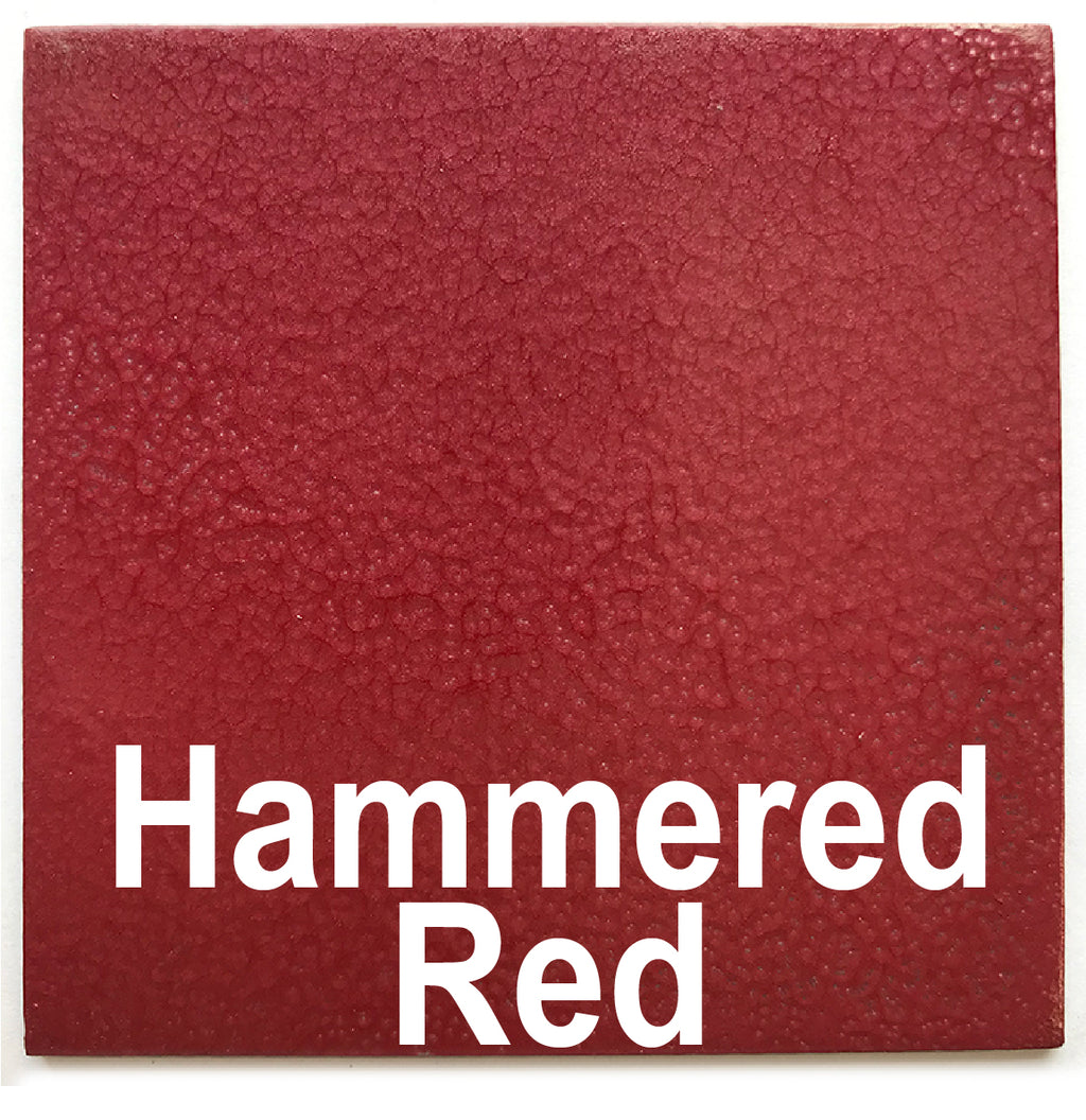 "Hammered Red piece - 3"" x 3"" Metal Art Color Swatch - Handmade in the USA - FREE SHIPPING"