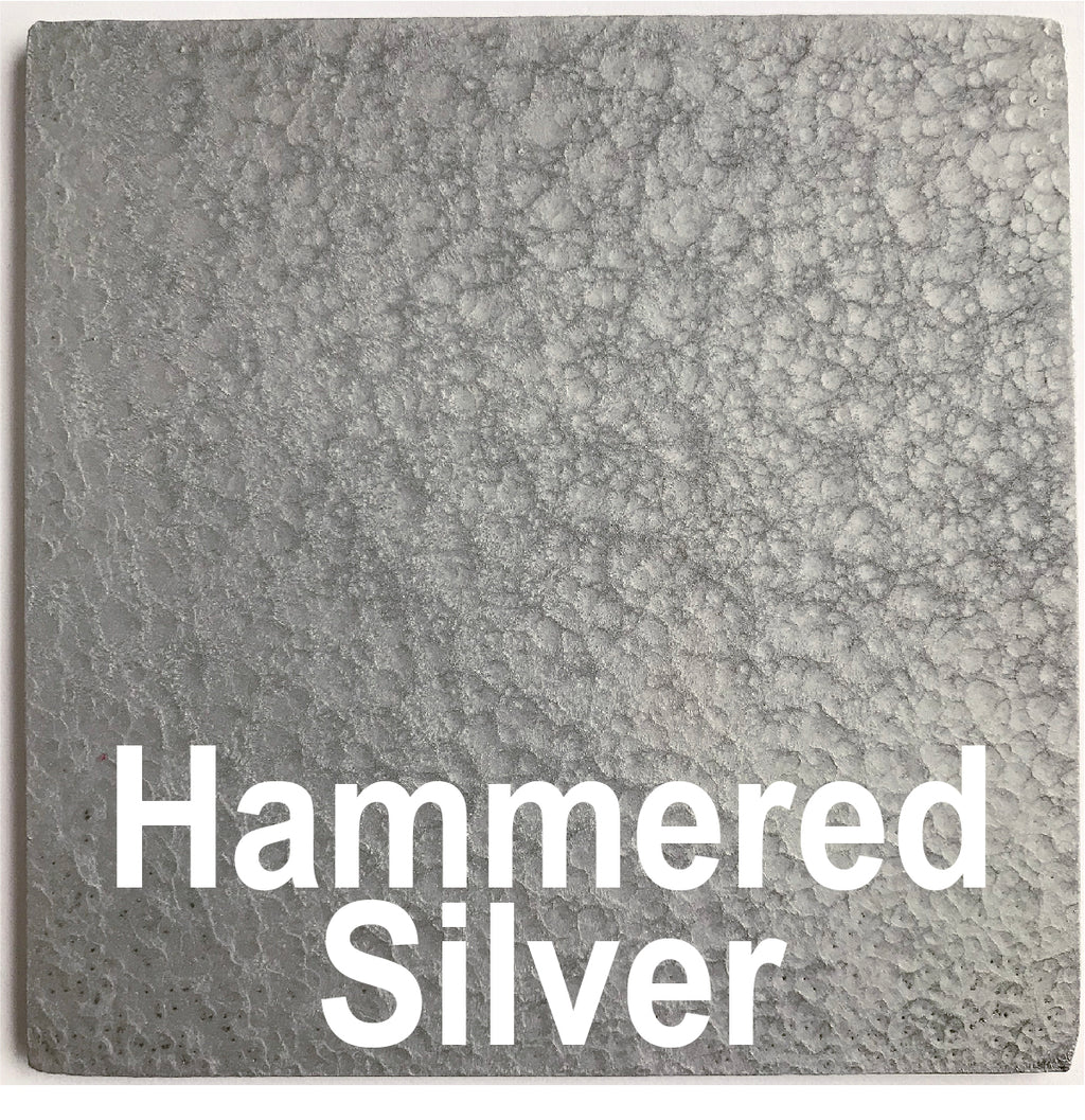 "Hammered Silver piece - 3"" x 3"" Metal Art Color Swatch - Handmade in the USA - FREE SHIPPING"