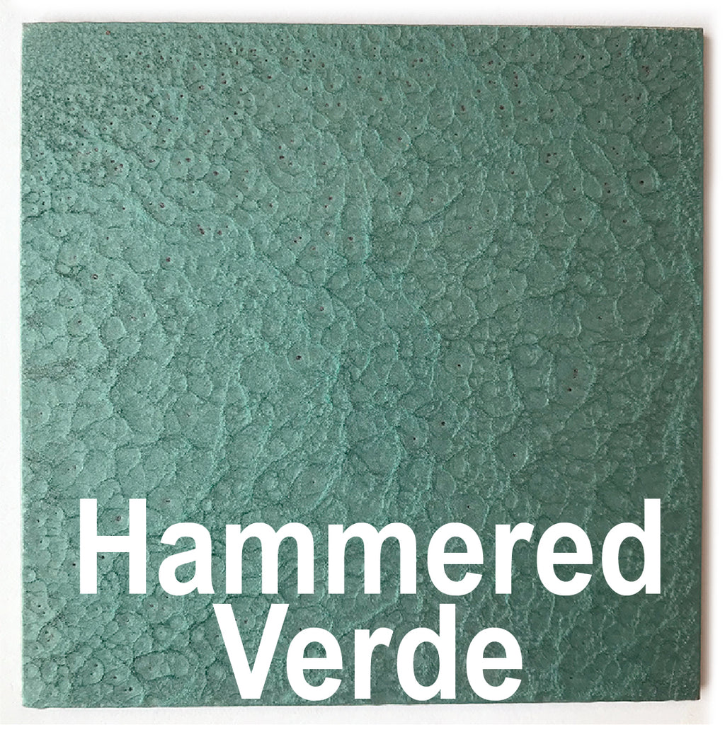 "Hammered Verde piece - 3"" x 3"" Metal Art Color Swatch - Handmade in the USA - FREE SHIPPING"