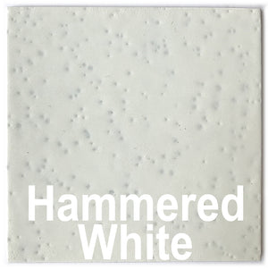 "Hammered White piece - 3"" x 3"" Metal Art Color Swatch - Handmade in the USA - FREE SHIPPING"