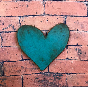 "Heart Symbol - Metal Wall Art Home Decor - Handmade in the USA -36"" wide x 34.5"" tall - Choose your Patina Color - Free Ship"