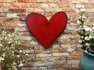 "Heart Symbol - Metal Wall Art Home Decor - Handmade in the USA - Choose 6.5"", 12"" or 18"" wide - Choose your Patina Color! FREE SHIPPING"