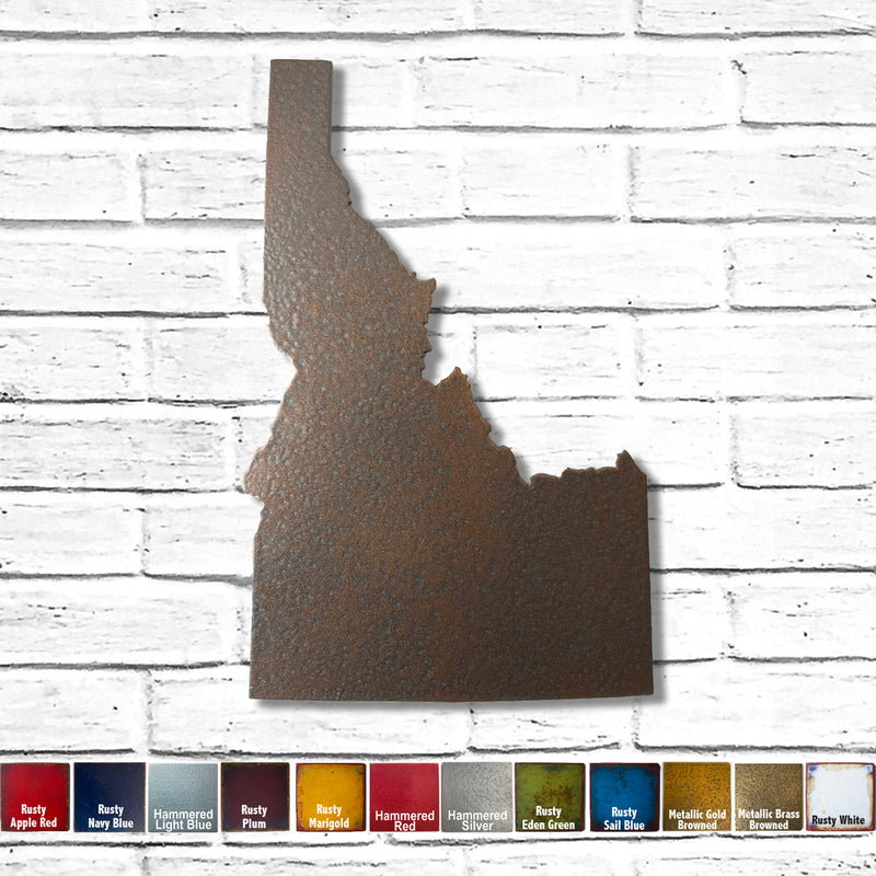 Idaho map metal wall art home decor handmade by Functional Sculpture LLC