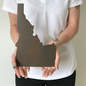 "Idaho - Metal Wall Art Home Decor - Handmade in the USA - Choose 11"", 17"" or 23"" Tall - Choose your Patina Color! Choose any State - Free Ship"