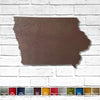 "Iowa - Metal Wall Art Home Decor - Handmade in the USA - Choose 11"", 17"" or 23"" Wide - Choose your Patina Color! Choose any State Free Ship"