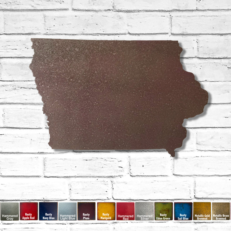 Iowa - Metal Wall Art Home Decor - Handmade in the USA - Choose 11