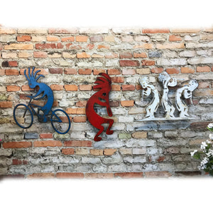 "Kokopelli - Metal Wall Art Home Decor - Handmade in the USA - Choose 12"", 17"" or 23"" Tall - Choose your Patina Color! FREE SHIPPING"