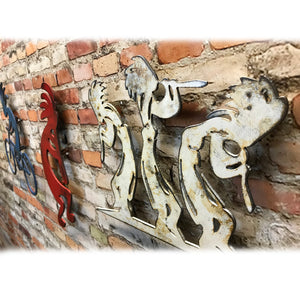 "Three Kokopelli - Metal Wall Art Home Decor - Handmade in the USA - Choose 11"", 17"" or 23"" Tall - Choose your Patina Color! FREE SHIPPING"