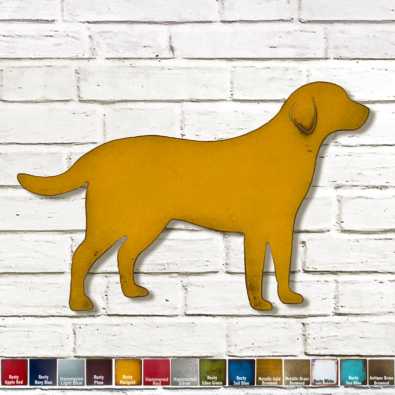 Labrador retriever dog shaped metal wall art home decor cutout handmade by Functional Sculpture llc