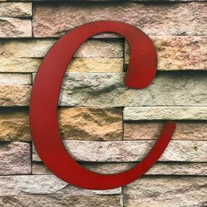 "Letter C - Karlie Font - Metal Wall Art Home Decor - Made in USA - Choose 8"", 12"" or 16"" Tall - Choose Patina Color! Choose any letter FREE SHIP"