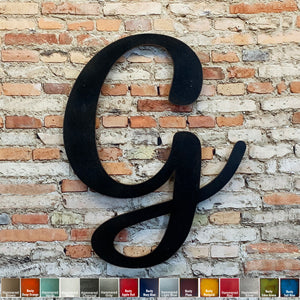 "Letter G - Karlie Font - Metal Wall Art Home Decor - Made in USA - Choose 8"", 12"" or 16"" Tall - Choose Patina Color! Choose any letter FREE SHIP"