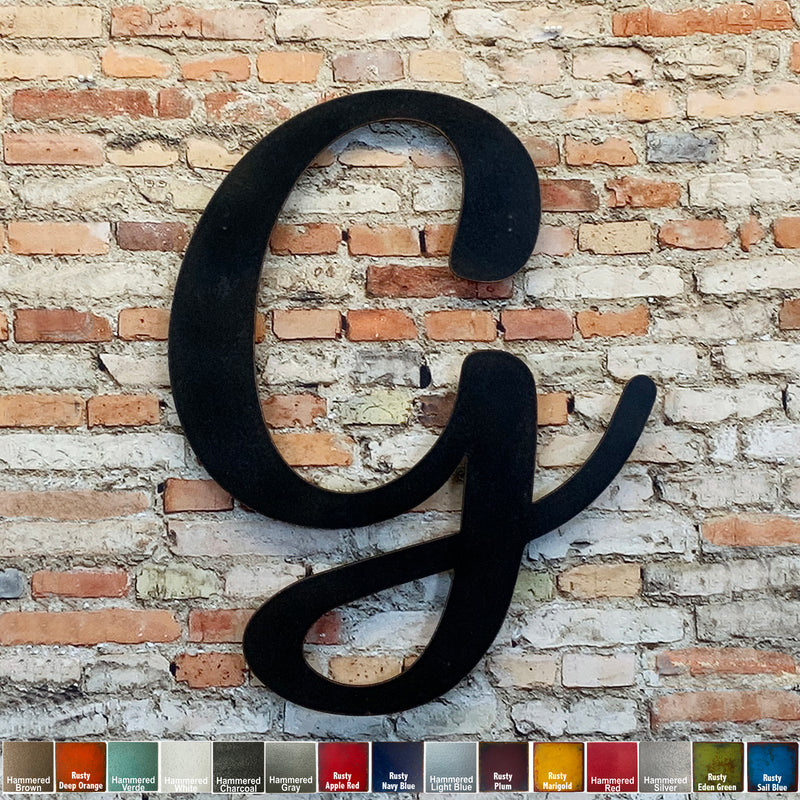 Letter G - Karlie Font - Metal Wall Art Home Decor - Made in USA - Choose 8