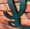 "Letter L - Karlie Font - Metal Wall Art Home Decor - Made in USA - Choose 8"", 12"" or 16"" Tall - Choose Patina Color! Choose any letter FREE SHIP"