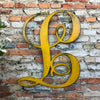 "Letter L - Monogram Font - Metal Wall Art Home Decor - Made in USA - Choose 8"", 12"" or 16"" Tall - Choose Patina Color! Choose any letter FREE SHIP"