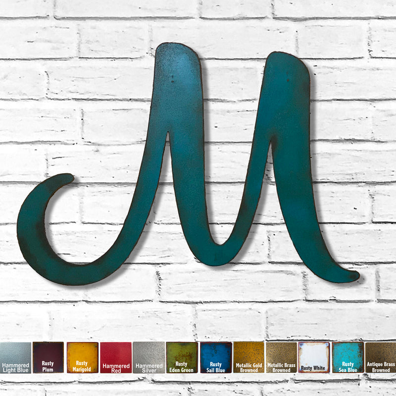 Letter M - Karlie Font - Metal Wall Art Home Decor - Made in USA - Choose 8