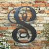 "Letter S - Monogram Font - Metal Wall Art Home Decor - Made in USA - Choose 8"", 12"" or 16"" Tall - Choose Patina Color! Choose any letter FREE SHIP"