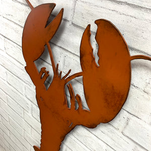 "Lobster - Metal Wall Art Home Decor - Handmade in the USA - Choose 11"", 17"" or 23"" Tall - Choose your Patina Color! FREE SHIPPING"