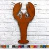 lobster shaped metal wall art home decor cutout handmade by Functional Sculpture llc