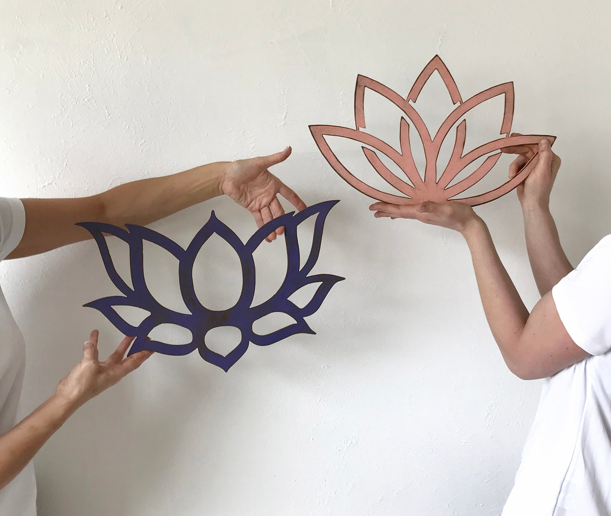 Lotus Flower Traditional Metal Wall Art Home Decor Handmade In T Functional Sculpture Llc