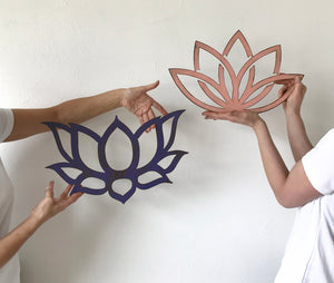 "Lotus Flower - Contemporary - Metal Wall Art Home Decor - Handmade in the USA - Choose 12"", 17"" or 23"" Wide, Choose your Patina Color! FREE SHIPPING"