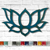 lotus flower shaped metal wall art home decor cutout handmade by Functional Sculpture llc