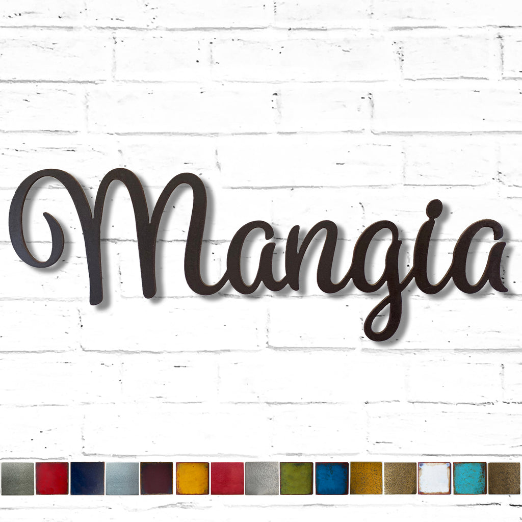 "Mangia sign - Metal Wall Art Home Decor - Price Difference to Upgrade to the 30"" version"