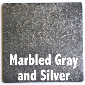 "Marbled Gray and Silver sample piece - 3"" x 3"" Metal Art Color Swatch - Handmade in the USA - FREE SHIPPING"