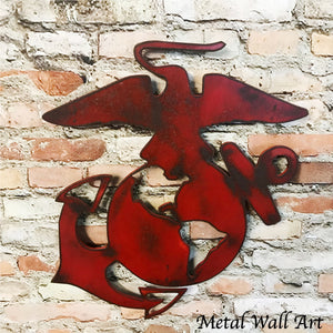 United States Marines symbol metal wall art home decor cutout handmade by Functional Sculpture llc