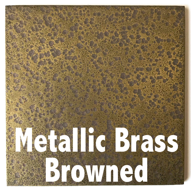 "Metallic Brass Browned sample piece - 3"" x 3"" Metal Art Color Swatch - Handmade in the USA - FREE SHIPPING"