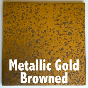 "Metallic Gold Browned sample piece - 3"" x 3"" Metal Art Color Swatch - Handmade in the USA - FREE SHIPPING"