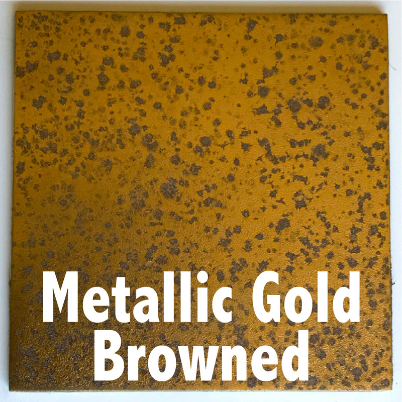 Metallic Gold Browned sample piece - 3