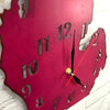 "Michigan Metal Wall Art Clock - Italic Numbers -  Home Decor - Handmade in the USA - Choose 18"" or 24"" tall, Choose your Patina Color - Free Ship"