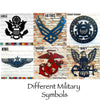 "Marines Symbol - Metal Wall Art Home Decor - Handmade in the USA - Choose 12"", 17"" or 23"" Wide, Choose your Patina Color! FREE SHIPPING"