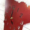 "Minnesota Metal Wall Art Clock - Italic Numbers -  Home Decor - Handmade in the USA - Choose 16"" or 22"" tall, Choose your Patina Color! FREE SHIPPING"