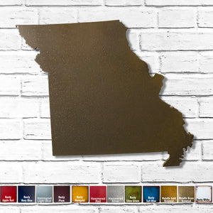 "Missouri - Metal Wall Art Home Decor - Made in the USA - Choose 10"", 16"" or 22"" Wide - Choose your Patina Color! Choose any state - FREE SHIP"