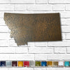 "Montana - Metal Wall Art Home Decor - Made in the USA - Choose 10"", 16"" or 22"" Wide - Choose your Patina Color! Choose any state - FREE SHIP"