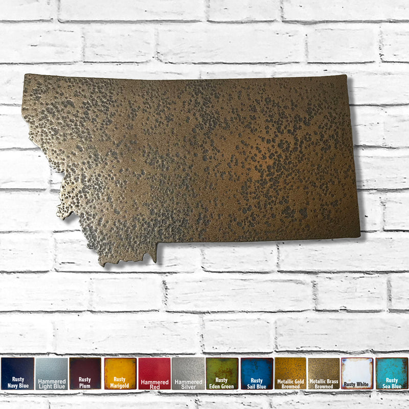 Montana - Metal Wall Art Home Decor - Made in the USA - Choose 10