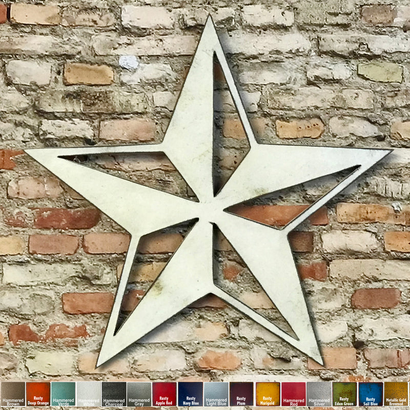 Nautical Star - Metal Wall Art Home Decor - Handmade in the USA - Choose 11