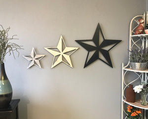 "Nautical Star - Metal Wall Art Home Decor - Handmade in the USA - Choose 11"", 17"" or 23"" Wide - Choose your Patina Color - Free Ship"