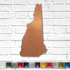 "New Hampshire - Metal Wall Art Home Decor - Handmade in the USA - Choose 11"", 17"" or 23"" Tall - Choose your Patina Color! Choose any State - Free Ship"