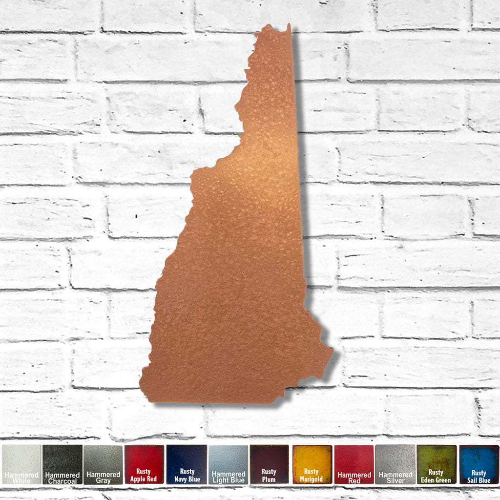 "New Hampshire - Metal Wall Art Home Decor - Handmade in the USA - Choose 11"", 17"" or 23"" Tall - Choose your Patina Color! Choose any State Free Shipping"
