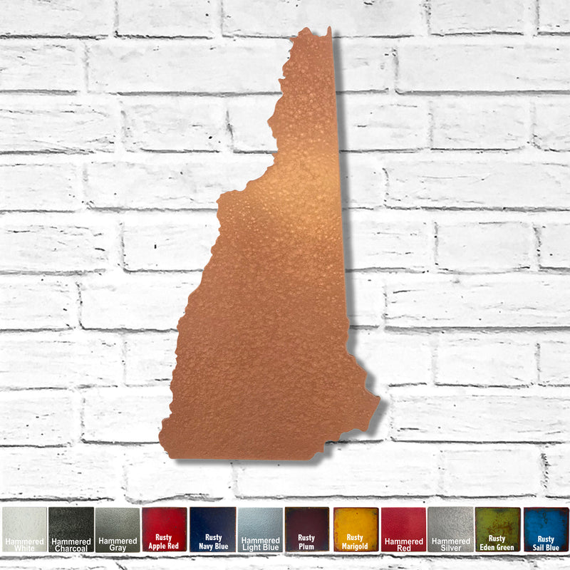 New Hampshire - Metal Wall Art Home Decor - Handmade in the USA - Choose 11