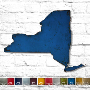 New York map metal wall art home decor handmade by Functional Sculpture LLC