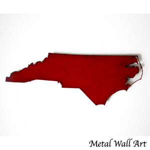 "North Carolina - Metal Wall Art Home Decor - Handmade in the USA - Choose 12"", 17"" or 24"" Wide - Choose your Patina Color! Choose any state FREE SHIP"