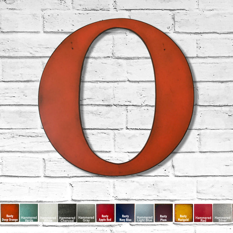 Letter O with KEYHOLE STANDOFFS - Metal Wall Art Home Decor - Made in the USA - Measures 30